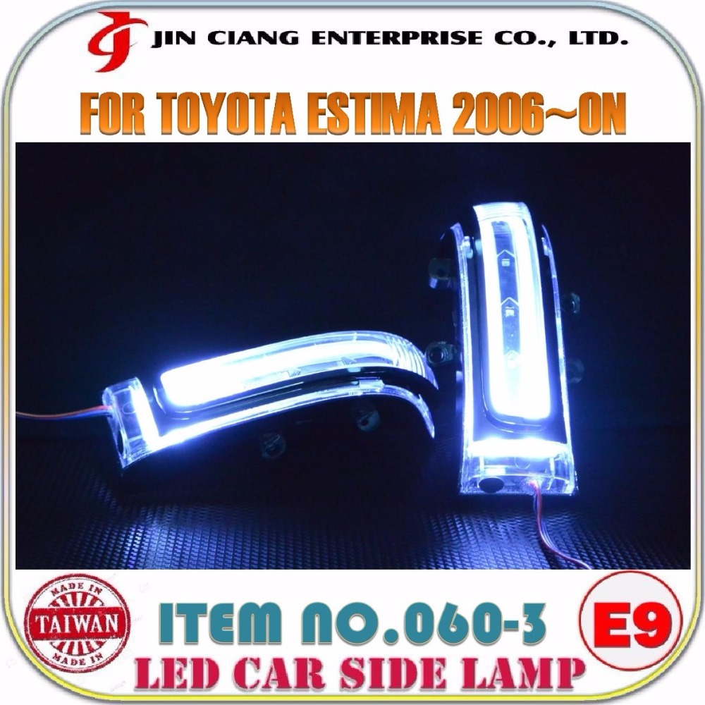 Automobile parts Mirror Cover FOR TOYOTA VOXY 2013 LED SIDE LAMP
