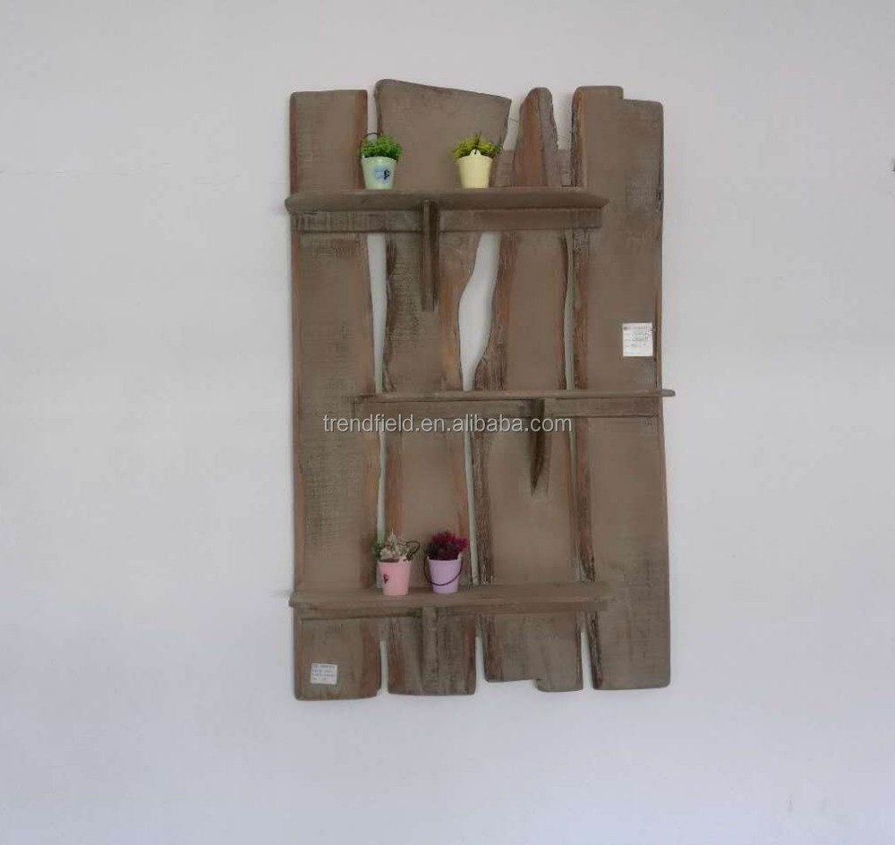 HOME STORAGE SHABBY WOOD WALL <strong>SHELF</strong> FOR LIVING ROOM FOR BATHROOM