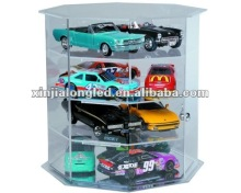 Octagon 4 Shelf Turn Table Display Case Acrylic Model Car Display Case