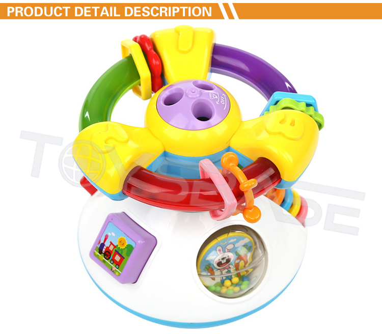Hot Sell Education Toys Projection Music Learning Toy Steering Wheel