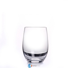 handmade plain clear thick bottom tumbler whisky drinking glass