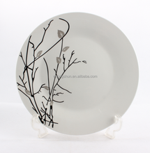 Super white porcelain plate ,new bone china ceramic plates bulk wholesale