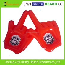 blue inflatable hands , inflatable fingers , PVC finger hands