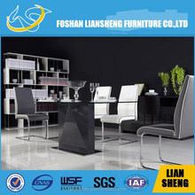 popular furniture white glass dining table in good taste -#A2095K00-M3