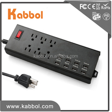 13a power socket power surge protector socket 1625W socket power board for iPhone iPad, Galaxy