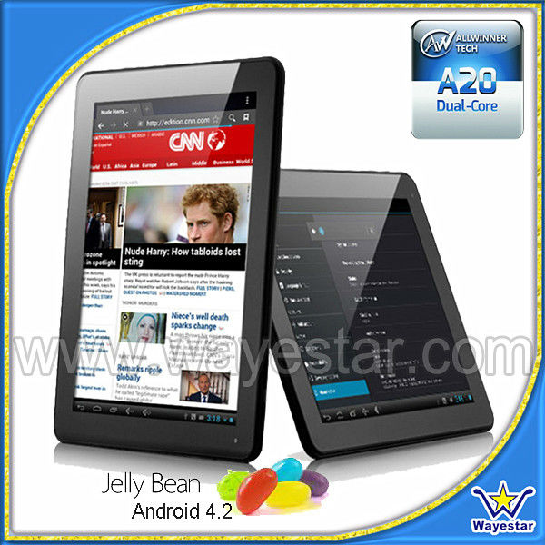 9.7'' capacitive touch Allwinner A20 dual core CPU Android 4.2 Tablet 1G Ram/8G Rom