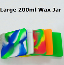 Custom printing 200ml large customized bho oil nonstick silicone container
