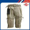 Xiamen Branded Cotton Mens Cargo shorts with Belt