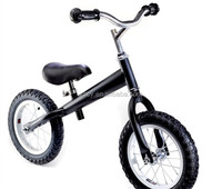red/white/black children balance bike learning bicycle