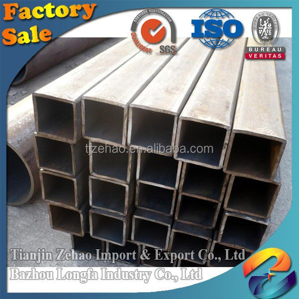 China Tianjin Port Galvanized Square Steel tube for oil and gas