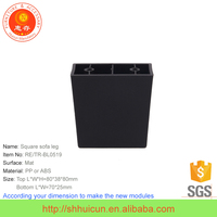 Square Plastic Foot for Outdoor Rattan Wicker Furniture