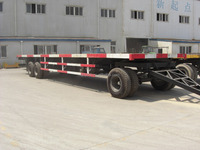 3 axle 40ft Flatbed Container Semi Truck Trailer For Sale