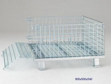 High Quality Folding Warehouse Wire Mech Container RH-C-A01