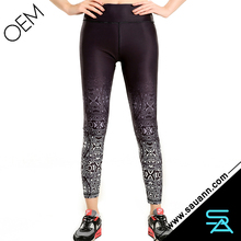 Women Running Ombre Tight Cycling Sports Pants For Fitness Yoga Leggings
