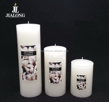 pillar candle 7cm dia. white color classic candles