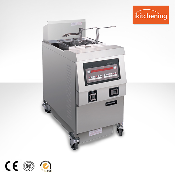 Kfc commercial Chicken Frying Machine/deep fryer/ broast fryer Single tank double baskets