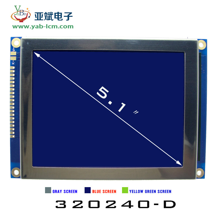 5.1 inch 320*240 lcd display Blue negative ,industrial control 320x240 lcd display with RA8835
