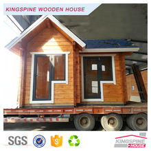 Prefab 2-room Wooden Guard house Small Tool House Garden House Log Home KPL-056
