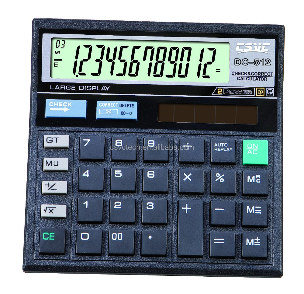 12 digits 99 Check Correct function Calculator ct 512 calculator