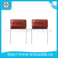 High Quality / Rhos Type CL21 Metallized Polyester Film Capacitor