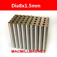 Dia8x1.5mm Wholesales Brand New Disc Rare-earth Strong Permanent Neodymium Magnet