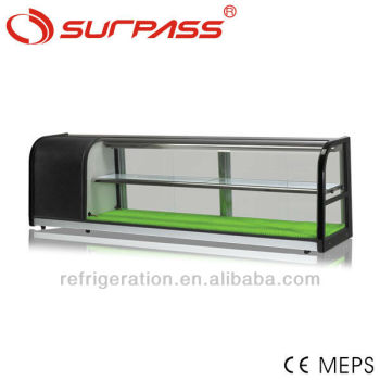 G150LS 2 layers counter top refrigerated sushi showcase, sushi display refrigerator
