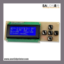 3D printer Controller 2004 LCD Control Panel 5 Keys Screen for A8 3D Printer