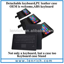 LBK810 Wholeslae 2 in 1 wireless Bluetooth keyboard with Touchpad for Microsoft Surface RT 10.6 inch windows PRO 8 inch tablet