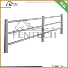 New design high quality metal/pvc round pipe horse fence factory