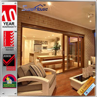 as1288 standard energy rating three panel sliding glass door for balcony