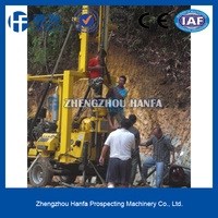 No.1 sale!drilling rigs manufacturer!stone killer!!HF-3 hydraulic soil sampling drilling machine