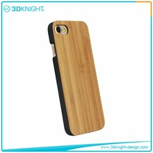 Luxury phone case tpu/pc +Natural Bamboo Wooden phone case waterproof for iPhone 7