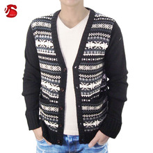 latest design christmas ugly high quality V neck cardigan sweaters knitted for mens for winter