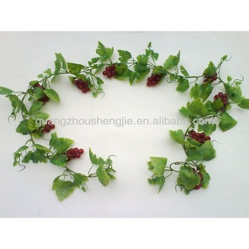Sleek realistic artificial grape vines hanging decoration for Buy grape vines for crafts