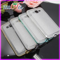 2016 bling design pc electroplate seperate bumper with tpu back cover case for mobile phone