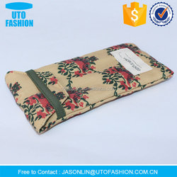 YT1354 custom designed logo printed fabric soft case