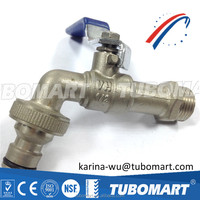 High quality nickel plating brass bibcock water valve with factory price