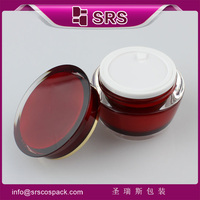 Professional Design Drum Shape Cream Jar For Skincare , 15ml 30ml 50ml Luxury Cosmetic Containers