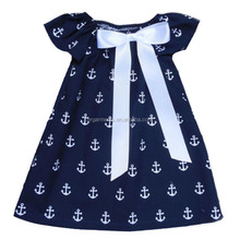Stylish Baby Cotton Frocks Designs Arrow Print Baby Girl Cotton Dresses Halloween Day Little Girls Party Dresses