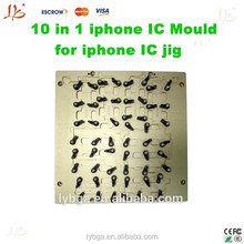 2015 NEWEST LY apple phone IC jig 10 in 1 mould for apple phone motherboard