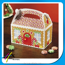 Custom Fun Express Gingerbread House Cardboard Christmas packaging storage gift box