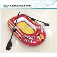 Inflatable Family Boat 4 Person River Excursion Fishing with Oars Air Pump