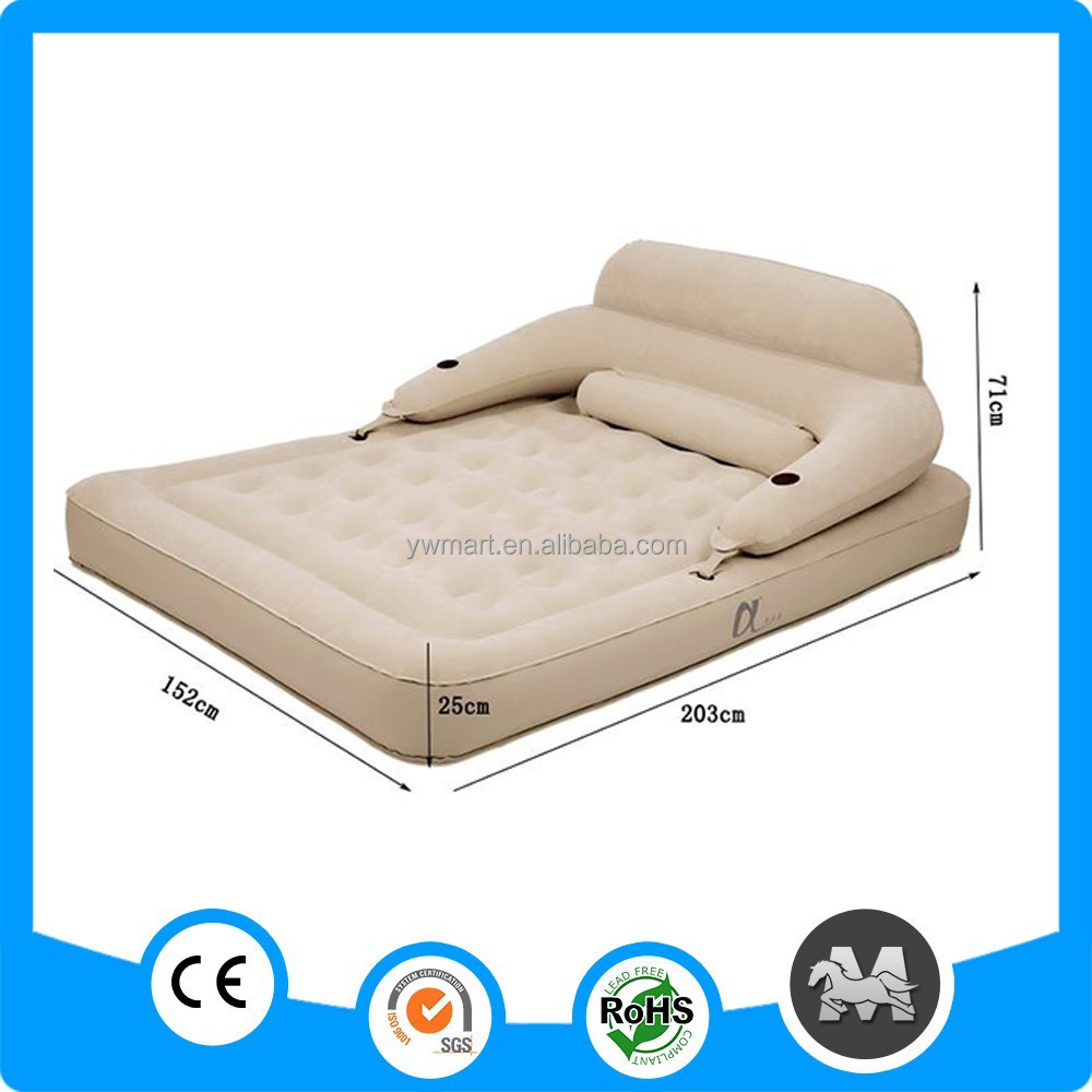 Twin Size PVC Flocked Inflatable Air <strong>Beds</strong> For Camping