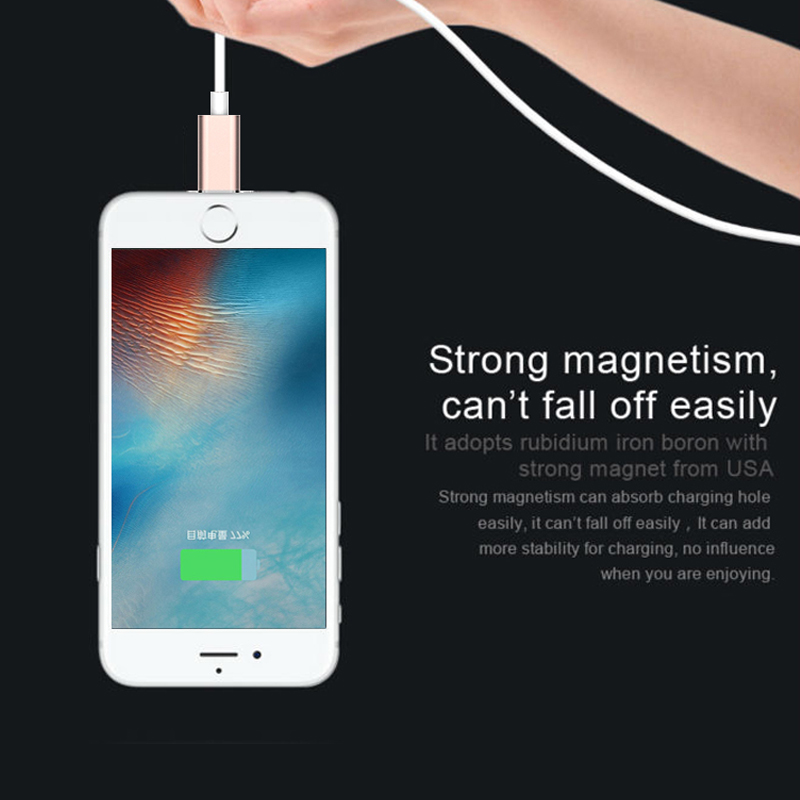 2017 hot sale Magnetic Adapter Charger Magnetic Micro Data Usb Charging Cable for For Apple iPhone 5 5S 6 6S 7