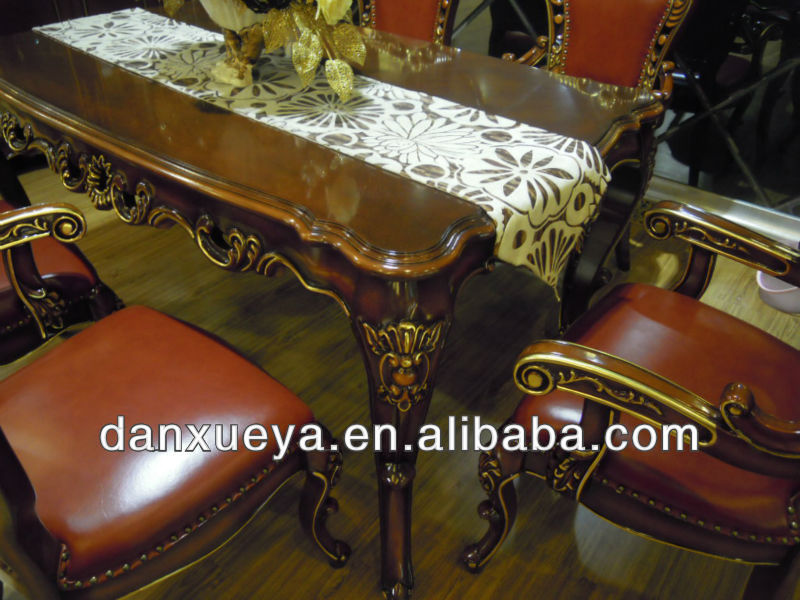antique wood carved manufacturer royal dining room furniture sets danxueya-TH01#