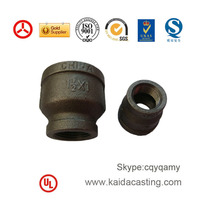 black malleable cast iron pipe fittings
