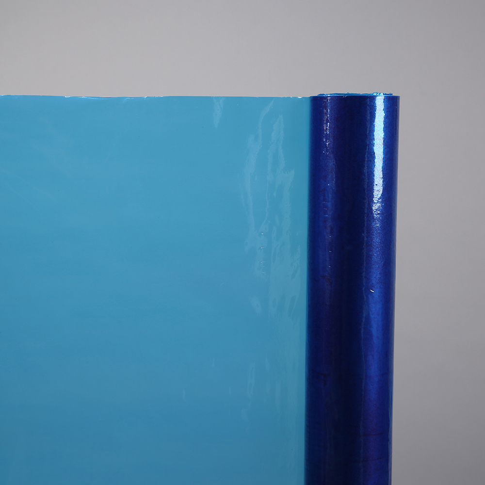 Clear blue plastic PE protective film for aluminum sheet