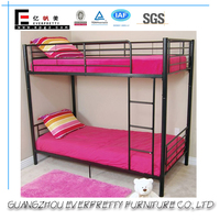 Heavy Duty Red Metal Bunk Bed Queen Size Metal Frame Bunk Beds Double Decker Bed for School Dormitory
