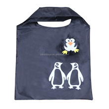 factory custom cute animal design pictures printing penguin polyester shopping bag