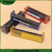 Wholesale 110mm cigarette rolling machine plastic acrylic easy Hand Manual Tobacco Roller Injector maker DIY for smoking pipe